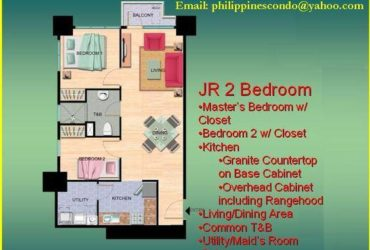 "JR 2 BEDROOM UNIT (64SQM) ""PRE-SELLING"" @ THE GRAND MIDORI MAKATI"
