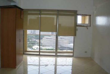 UNFURNISHED HIGH FLOOR STUDIO UNIT FOR RENT IN PASEO PARKVIEW SUITES MAKATI