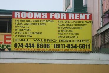 BAGUIO CITY – CHEAP, CLEAN, AFFORDABLE ROOM FOR RENT! ONLY 10 MINS. TO BAGUIO PLAZA! CONVENIENT YET CHEAP!