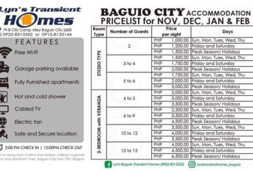 Lyn's Baguio Transient Homes
