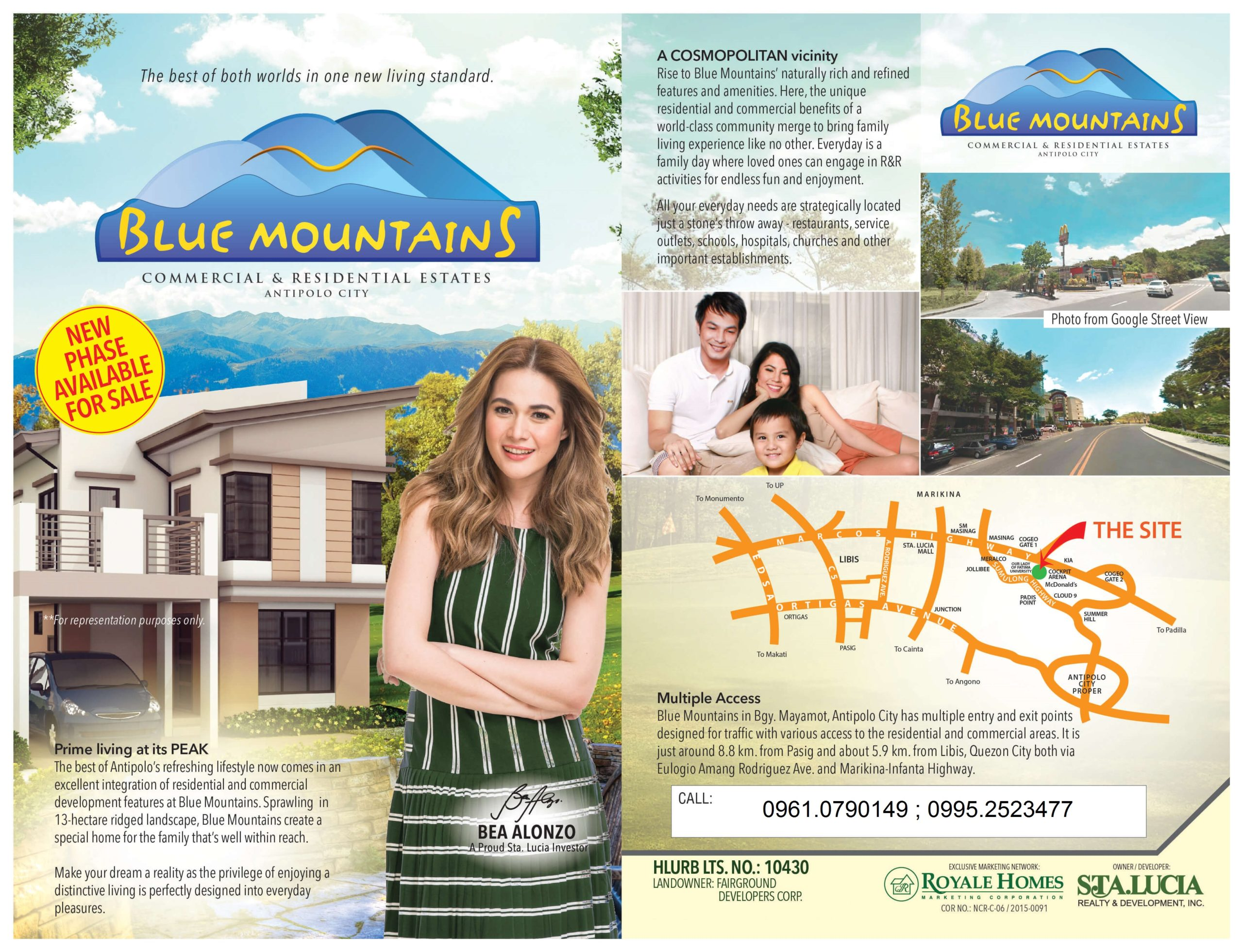 Over looking lot for sale in Antipolo Rizal at Blue Mountain