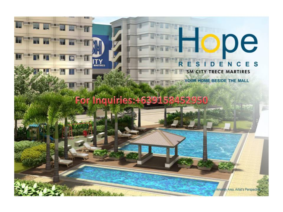 2BR CONDOMINIUM FOR SALE IN TRECE MARTIRES CAVITE Beside SM MALL AT Php. 5,950/ monthly