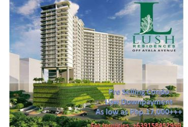 1BR Condominium unit For Sale SMDC in Makati Bagtikan Lush Residences 1BR at Php.17,000+++