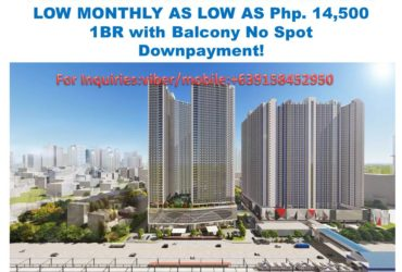 1BR Condominium unit for Sale in EDSA-BONI MRT for Php. 14,500 LIGHT 2 RESIDENCES