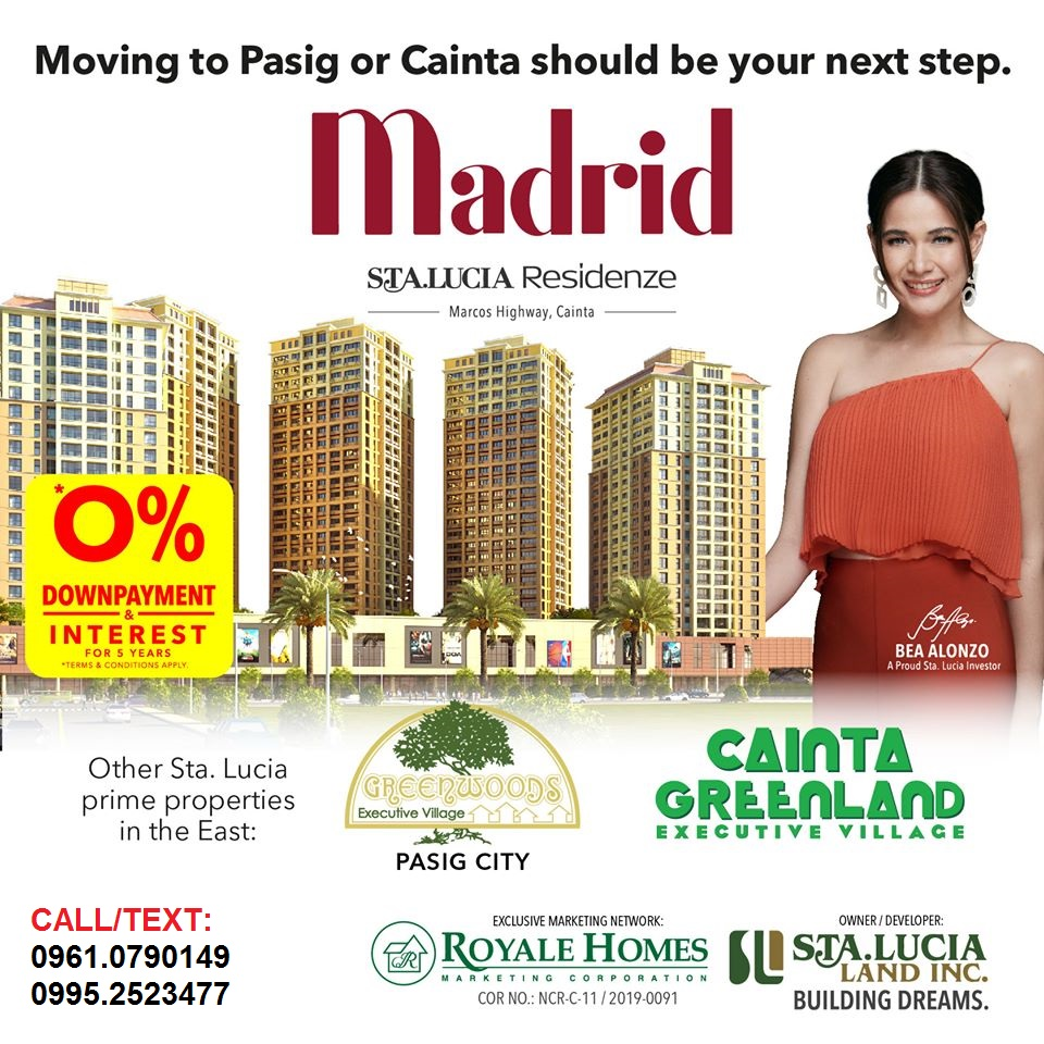 Pre-selling condominium at Sta Lucia Center Cainta boundary of Pasig