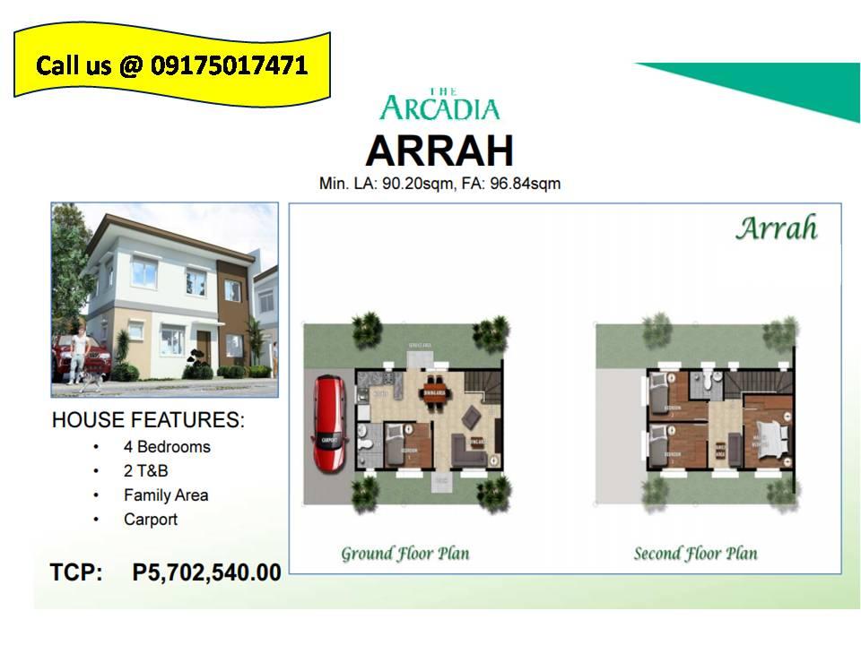 Arrah Model House and Lot for sale in Porac Pampangga,