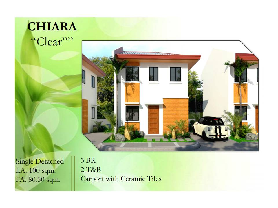 CHIARA House and lot model for sale! in The Gentri Heights Subdivision