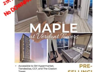 Best Condo Investment in Ortigas East -Maple Tower