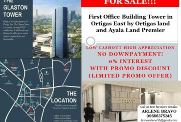 Office Space Unit for Sale w/parking  near Ortigas Center / Glaston Tower 88.88sqm