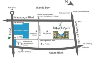 Palm Beach Villas 2 BedRoom with Balcony  MOA with Appliances with PARKING SLOT