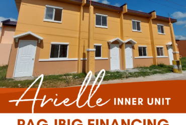 TOWNHOUSE INNER UNIT – PAG IBIG FINANCING