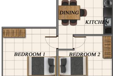 2 Bedroom Condo in Bacoor (between Aguinaldo Hi-way and Daang Hari)