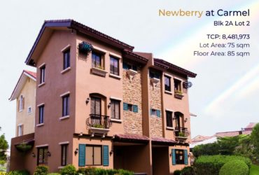 Ready for Occupancy House and Lot for Sale in Carmel Crown Asia(Newberry Model)